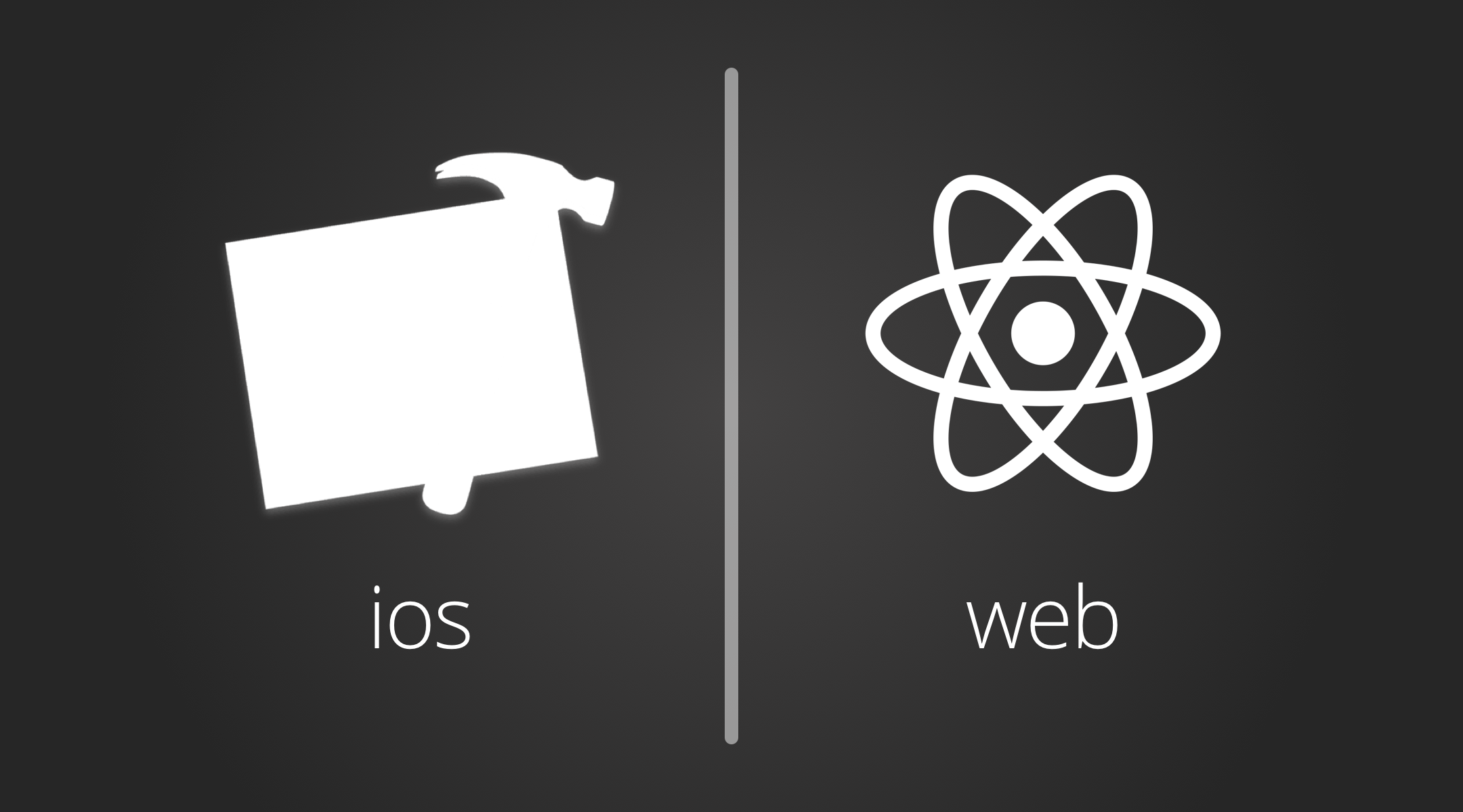 iOS & Web Development icons for Xcode and for React.js
